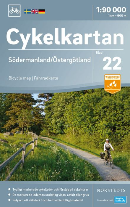 Sweden Cycling Map 22 - Södermanland & Östergötland